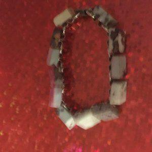 African Bloodstone Stainless Steel Bracelet - 126